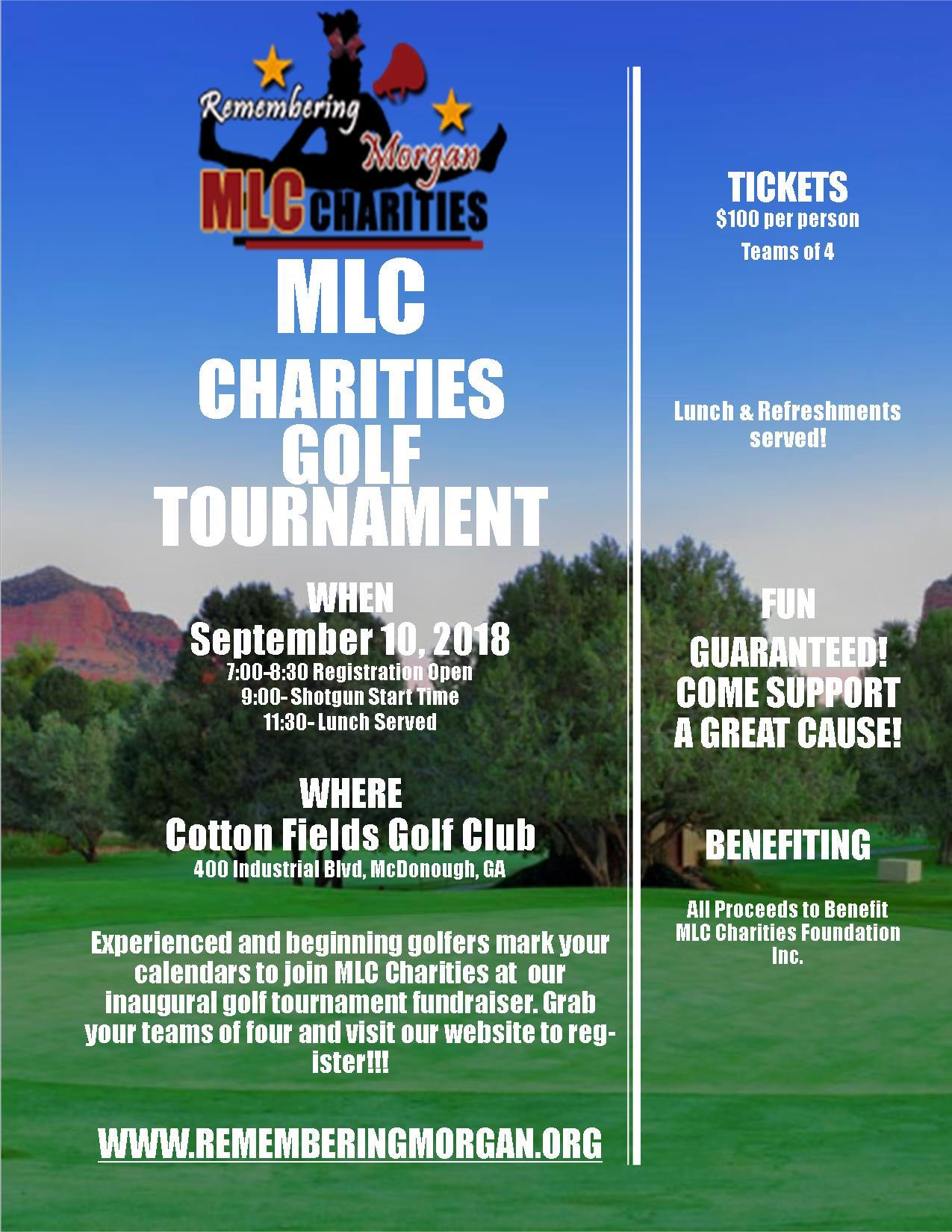 MLC Charities Golf Tournament - MLC Charities